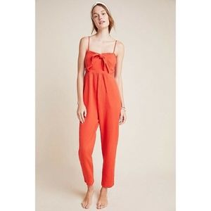NWT Anthropologie Isabel Tie Front Jumpsuit